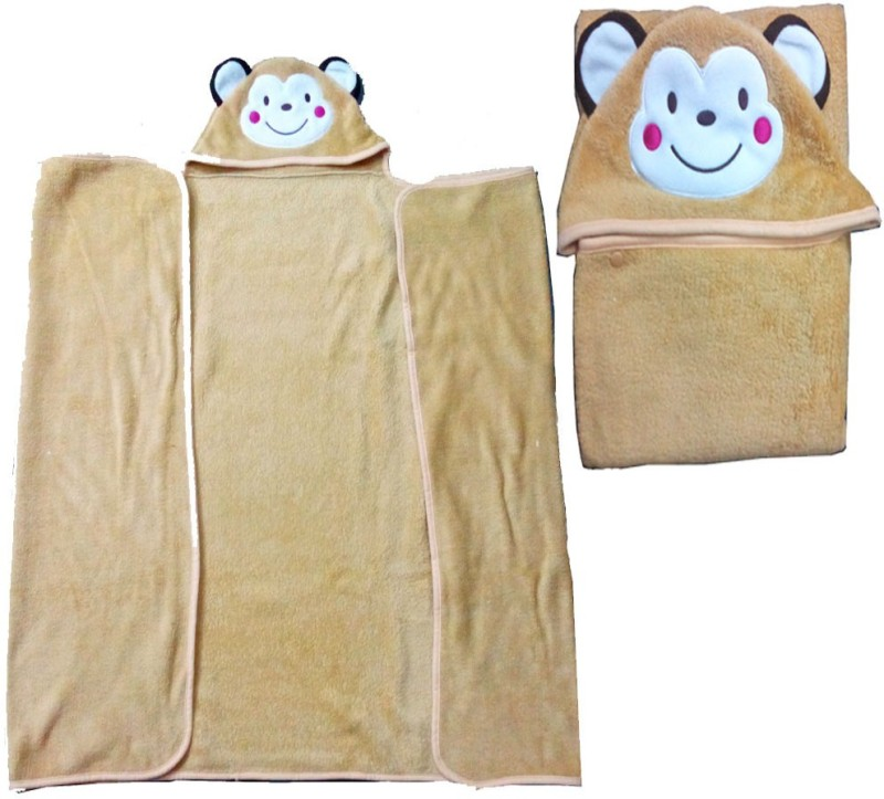 Baby Basics Cartoon Single Blanket Brown(1 Blanket)