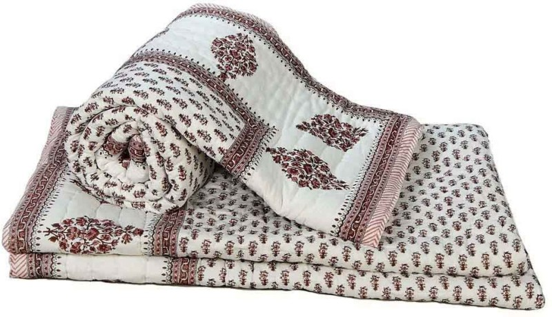 Indian Gift Emporium Damask Double Quilts & Comforters Brown(2 Single...