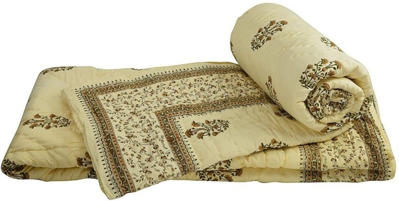 Indian Gift Emporium Damask Double Quilts & Comforters White(2 Single...