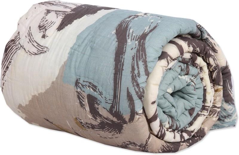 Reme Damask Single Comforter(Microfiber, Multicolor)