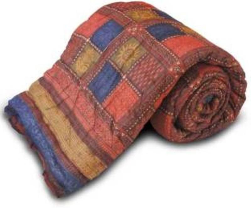 BD Printed Double Blanket multicolour(AC Quilt, Jaipuri Razai Double Bed Quilt)