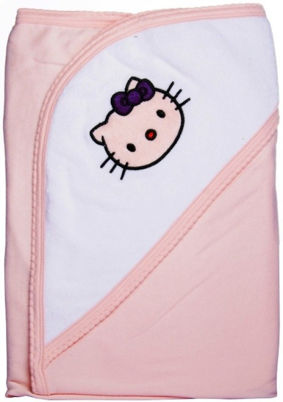 Manorath Plain Crib Blanket Peach(Blanket)