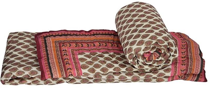 Indian Gift Emporium Damask Double Quilts & Comforters Red(2 Single...