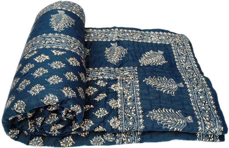 Phoenix International Floral Double Quilt, Comforter Multicolor(Jaipuri Razai Double Bed Quilt)