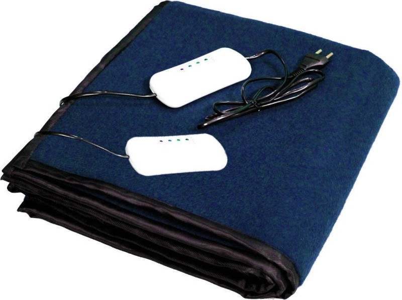 LeoSpark Plain Double Electric Blanket Blue(Blanket)
