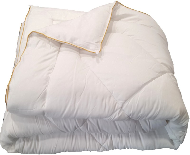 Valtellina Plain Single Comforter(Microfiber, White)