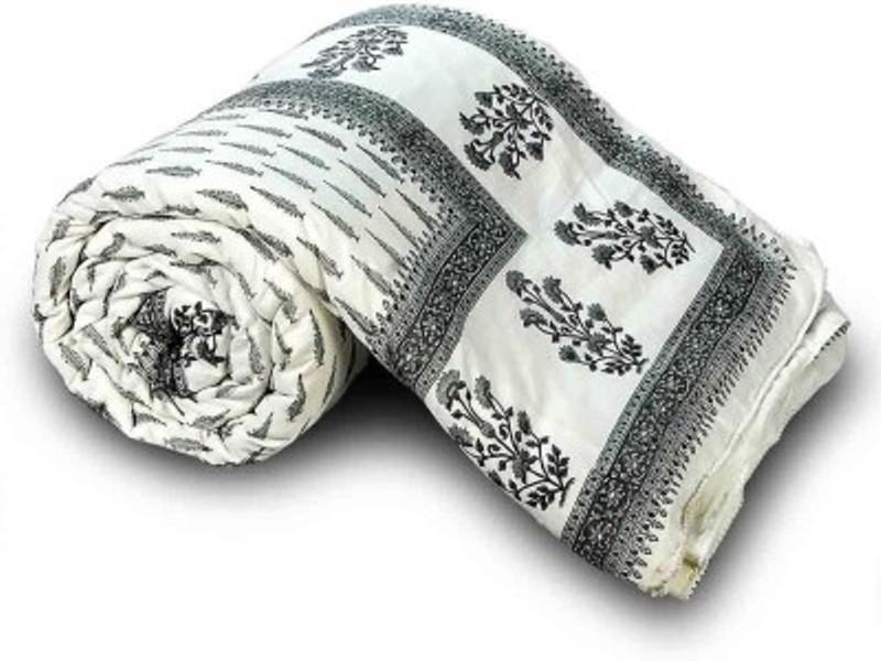 Ruchi World Floral Double Comforter(Microfiber, Multicolor)