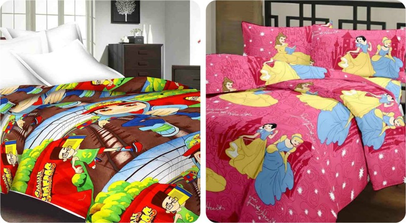 Richa Creation Cartoon Single Dohar(Microfiber, Multicolor)