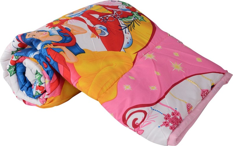 The Home Story Cartoon Single Comforter(Cotton, Multicolor)