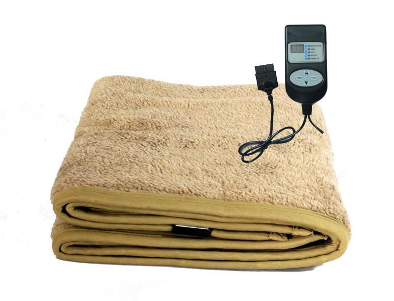 Winter Care Plain Single Electric Blanket Beige(1 Blanket, 1 Control Unit)