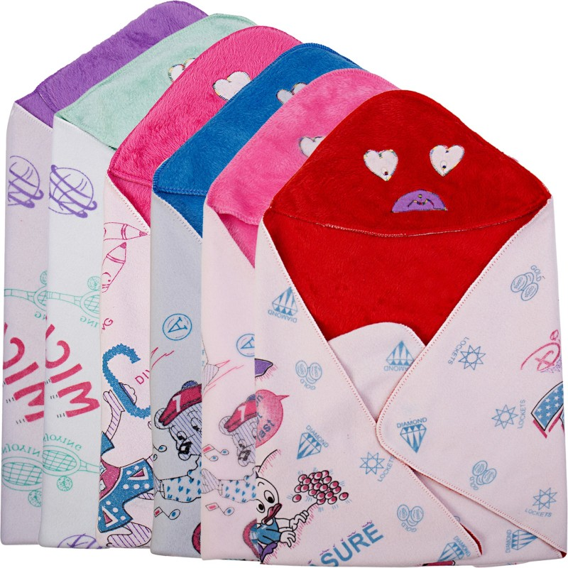 Utc Garments Cartoon Single Blanket(Microfiber, Purple, Red, Green, Blue, Pink)