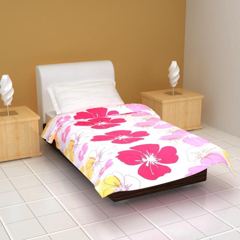 Clasiko Floral Single Dohar Multicolor(AC Blanket, 1 Ac Blanket/Dohar)
