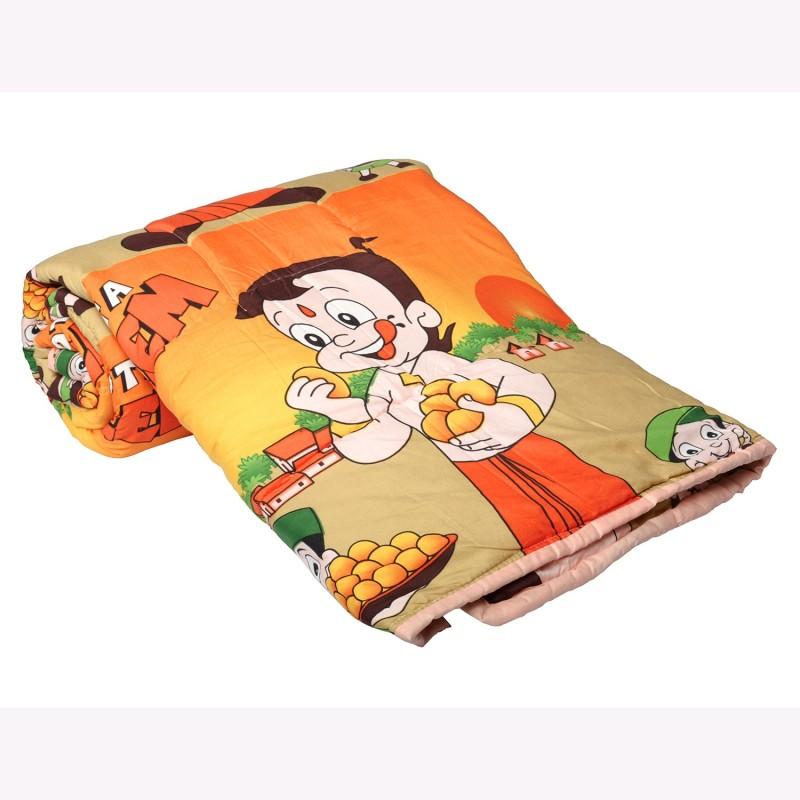 Clasiko Cartoon Double Quilts & Comforters Yellow(1 Double Bed Comforter)