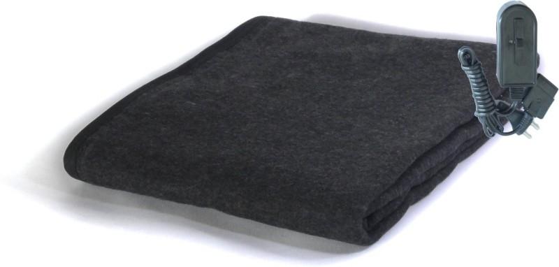 Winter Care Plain Single Electric Blanket Black(Blanket, Control Unit)