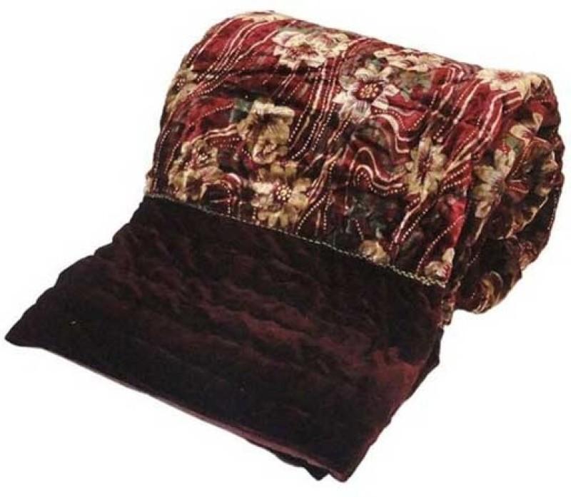 Ocean Enterprises Floral Double Quilt, Comforter Multicolor(Jaipuri Razai Double Bed Quilt)