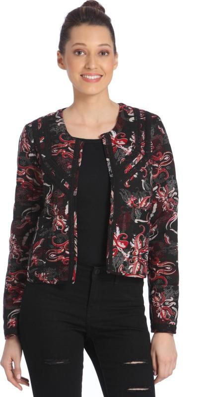 Vero Moda Printed Tuxedo Style Casual Womens Blazer(Red, Black)