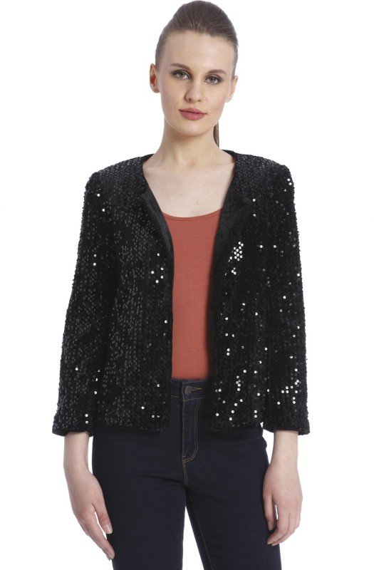 Vero Moda Embellished Single Breasted Casual Womens Blazer(Black)