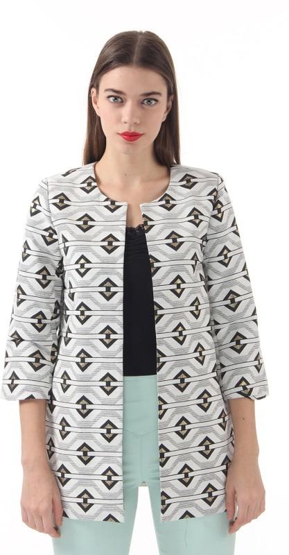 Vero Moda Printed Single Breasted Casual Women's Blazer(White)