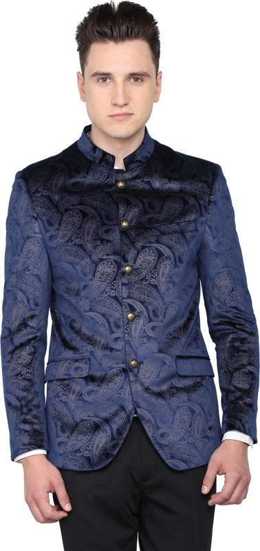 Arrow Solid Single Breasted Casual Men's Blazer(Dark Blue)