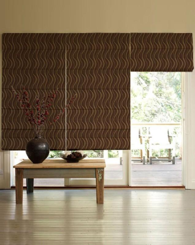 Presto Roman Blind Cord Drawn(Polyester, Cloth)