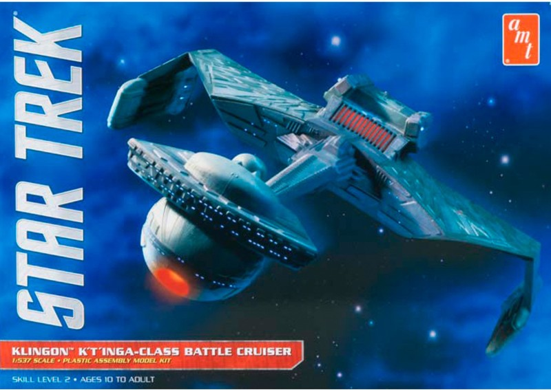 AMT USA 1/537 Scale Star Trek Klingon K'Tinga-Class Battel Cruiser