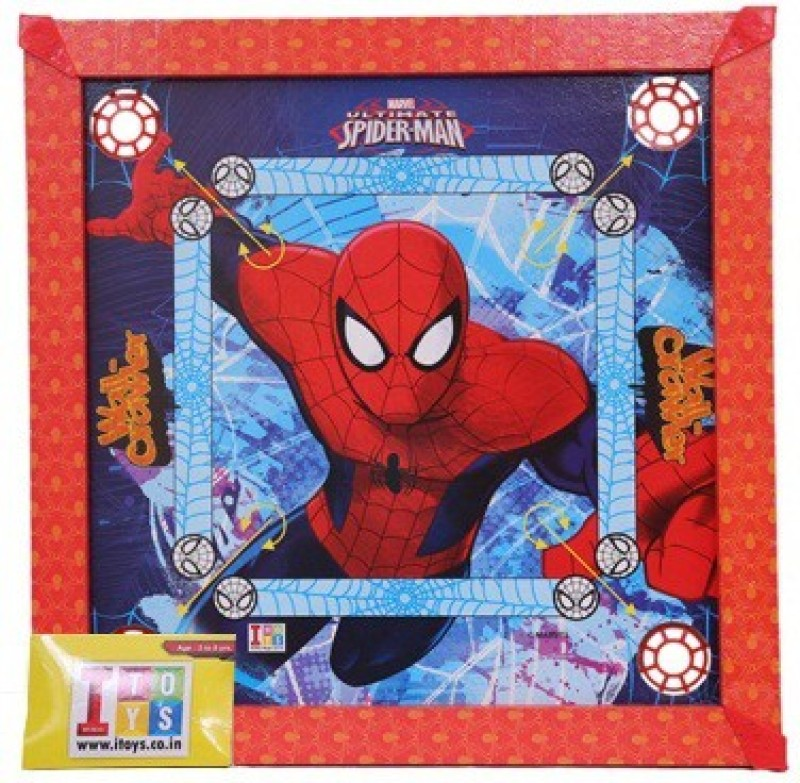 Marvel Spider Man Carrom Board-20x20 size Board Game Spider Man Carrom Board-20x20 size