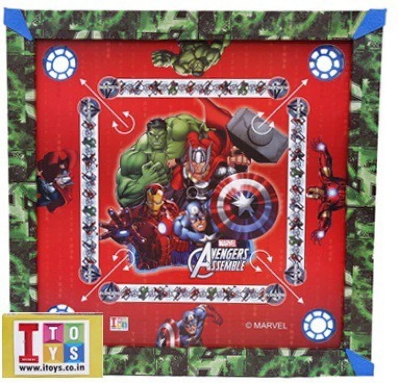 Marvel Avengers Carrom Board-20x20 size Board Game Avengers Carrom Board-20x20 size
