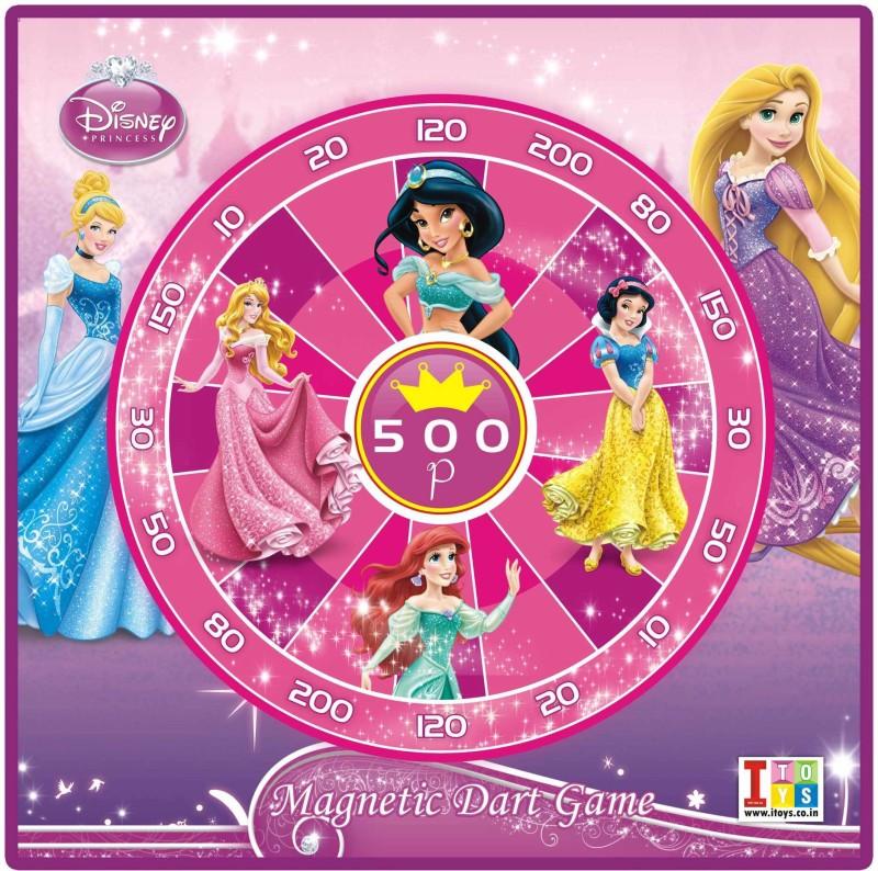 Disney Princess Metallic Dart & Write-Wipe White Board 12 inch Dart Board(Multicolor)