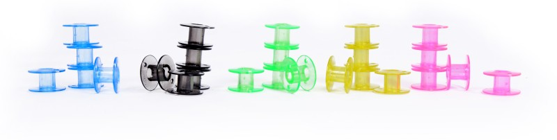 Vardhman colored bobin Plastic Bobbins(Pack of 25, class 15)