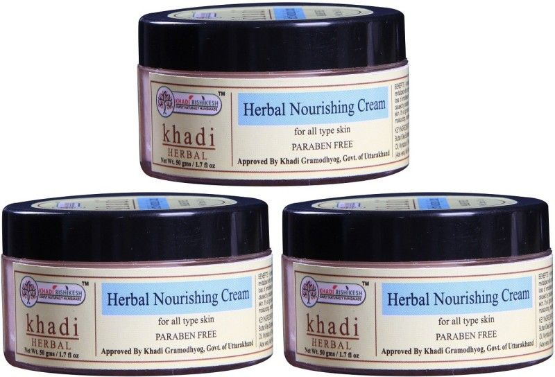 Khadi Rishikesh Herbal Nourshing Cream - Pack of 3(150 g)