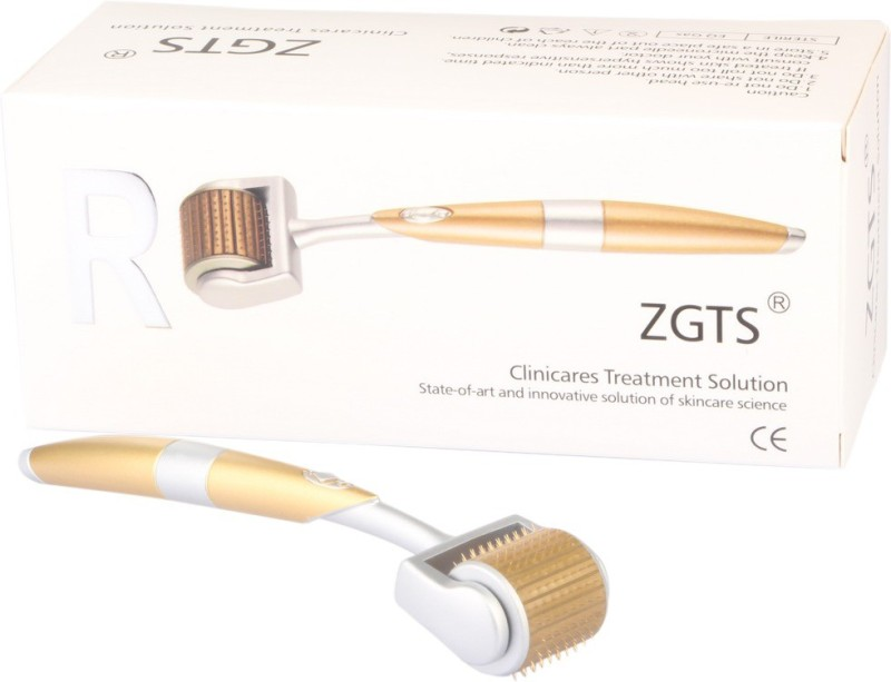 ZGTS Derma Roller Alloy Titanium 192 Needles Treating Acne Scars Skin Hair Loss Wrinkles Blackheads Lines Sun Damaged Ageing- Daily Care Product Reducing Blemishes Scars Potholes Cellulite Stretchmark's (0.75mm)(1 g)