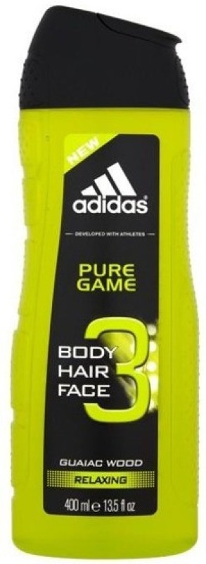 Adidas Pure Game Body, Hair & Face 3 -in-1(400 ml) Pure Game Body, Hair & Face 3 -in-1
