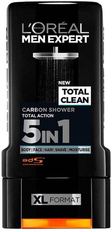 L'Oreal Paris Men Expert Total Clean Carbon Shower Gel(299 ml) Men Expert Total Clean Carbon Shower Gel