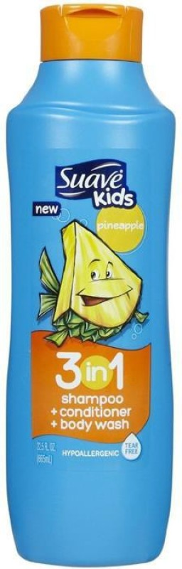 Suave Kids 3 In 1 Shampoo, Conditioner & Bodywash - Pineapple(665 ml)