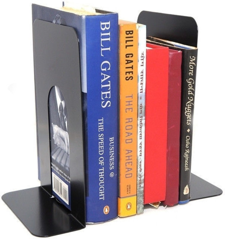 Neat Storage Systems Steel Book End(Black, Pack of 2)