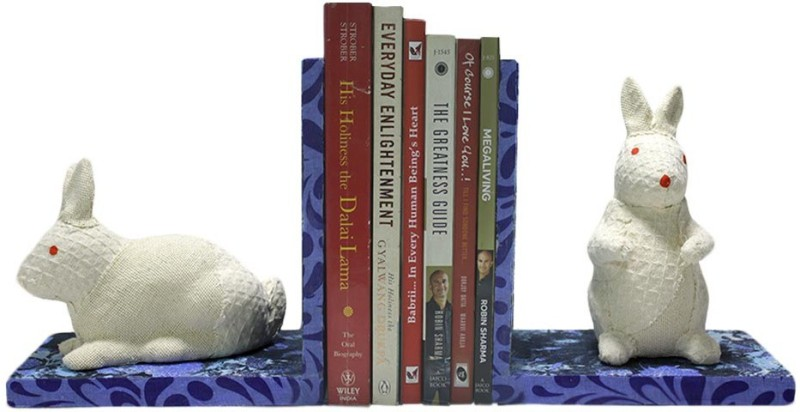 Veer Creations Plywood, Fibre Glass Book End(Multicolor, Pack of 2)