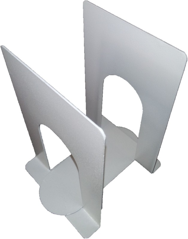 Dixon Carbon Steel Book End(White, Pack of 2)