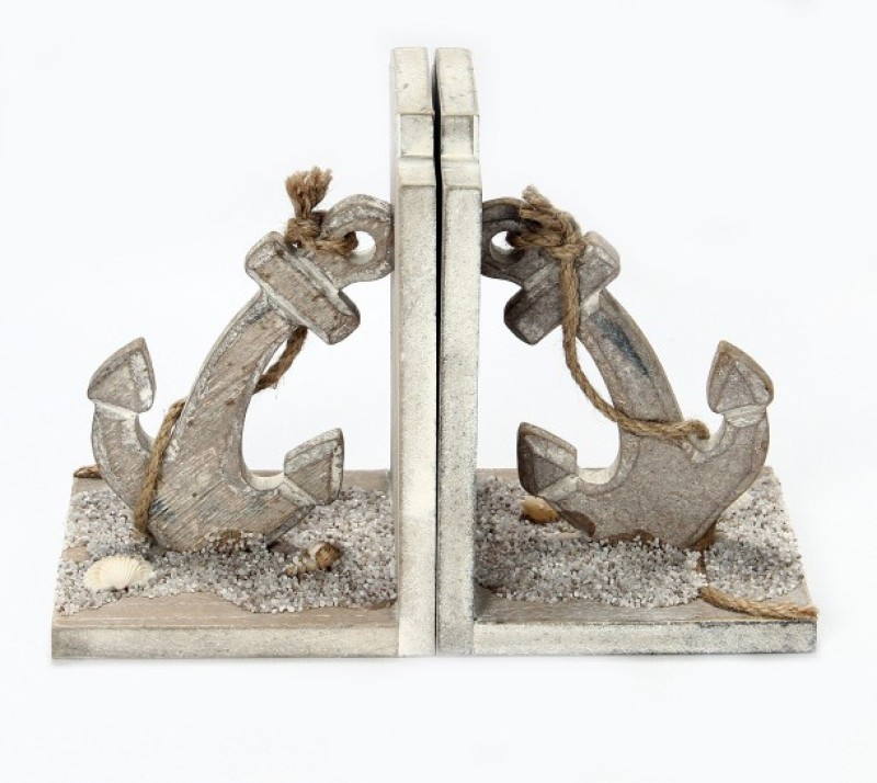 Vishal Props Wood Book End(Grey)