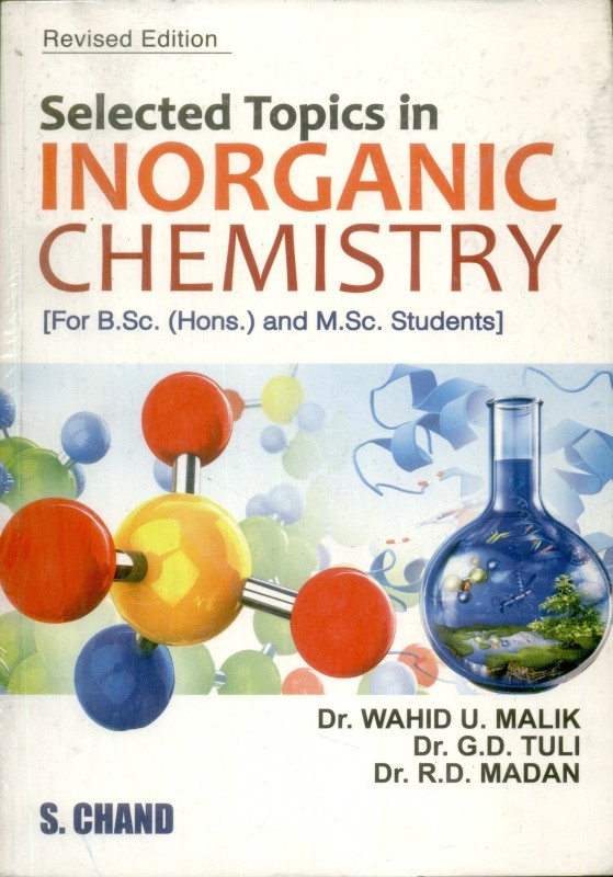 SELECTED TOPICS IN INORGANIC CHEMISTRY(English, Paperback, Wahid U Malik, G...