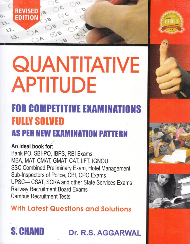 QUANTITATIVE APTITUDE FOR COMPETITIVE EXAMINATIONS, REVISED 2017 EDITION(English, Paperback, R S Aggarwal)