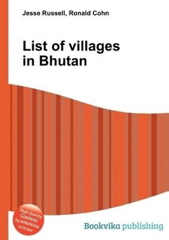 List of Villages in Bhutan(English, Paperback, unknown)
