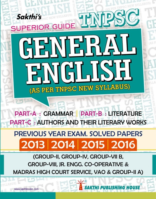 General English (Tnpsc New Syllabus)Examination Previous Year Examsolved Papers(English, Paperback, S.SEKAR)