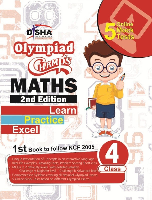 Olympiad Champs Mathematics Class 4 with 5 Online Mock Tests 2nd Edition 2 Edition(English, Text, Disha Experts)