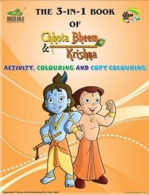 The 3 in 1 Book of Chhota Bheem & Krishna(English, Paperback, GREEN GOLD)