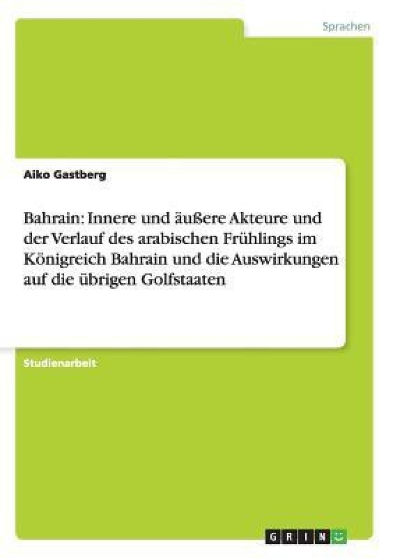 Bahrain(German, Paperback, Gastberg Aiko)
