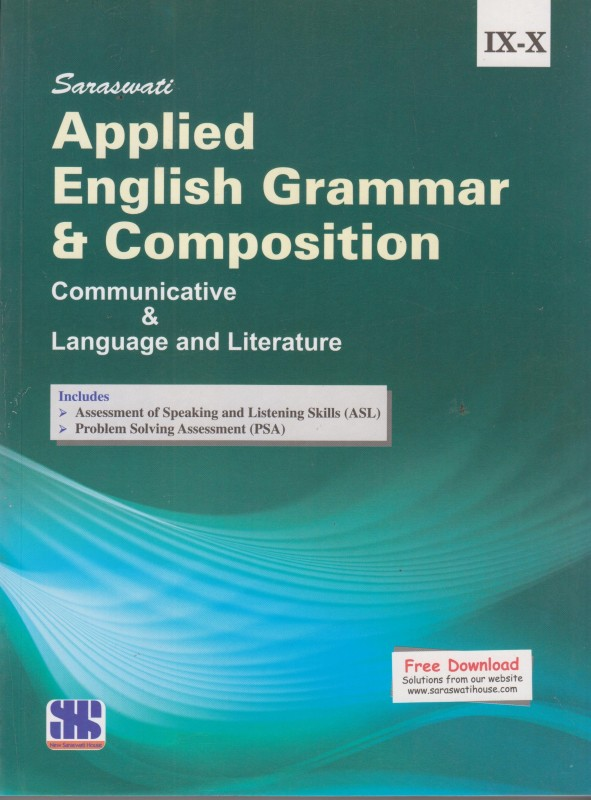 Saraswati Applied English Grammar and Composition - Communicative & Language & Literature (Class 9 -10)(English, Paperback, Madan Mohan Sharma)