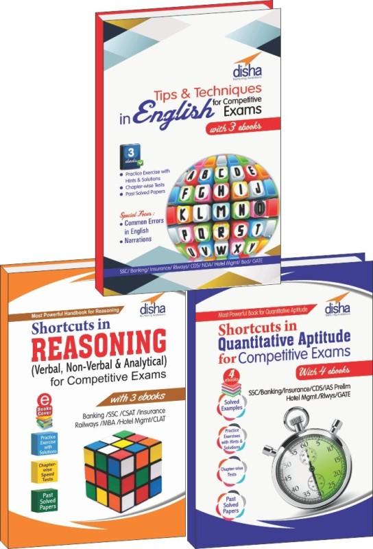 Shortcuts & Tips in Quantitative Aptitude/ Reasoning/ English for Competitive Exams(English, Paperback, Disha Experts)
