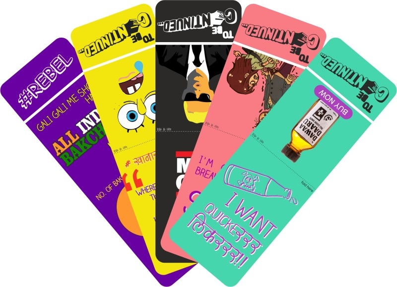 To Be Continued Pack of 5 (3) Paper Bookmark(Colorfull, Multicolor)