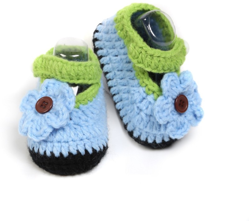 Babyoodles Booties(Toe to Heel Length - 10 cm, sky blue)