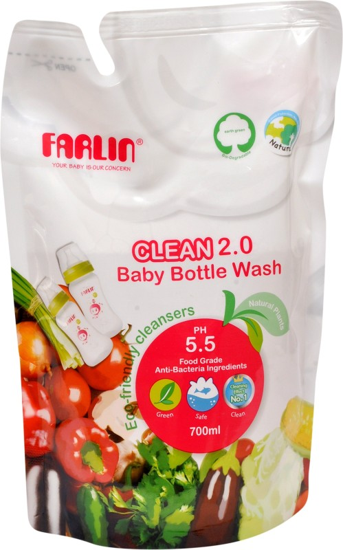 Farlin Natural Baby Liquid Cleanser Refill 700 ML(White)